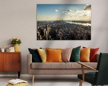 Nachmittagssonne über New York von Bas de Glopper