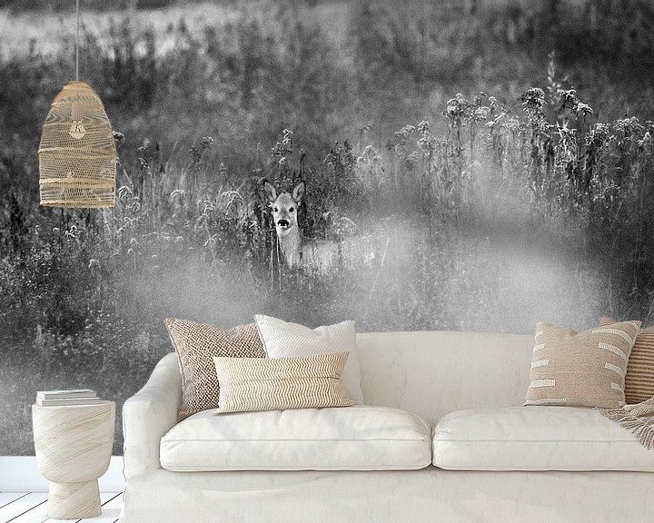 Beispiel fototapete: Ree in de Beningerslikken von Sven Zoeteman
