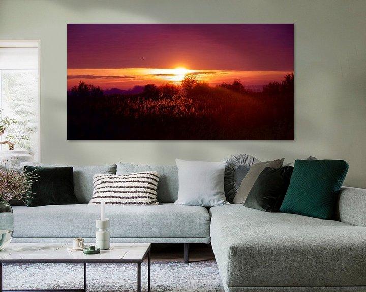 Sfeerimpressie: Zonsondergang op de Beningerslikken van Sven Zoeteman