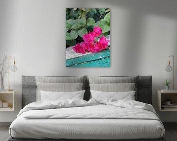 Hardroze bloemen von Renee Alexandra Serlier