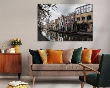 Reflectie van grachtenpanden in Utrecht von Kim de Been