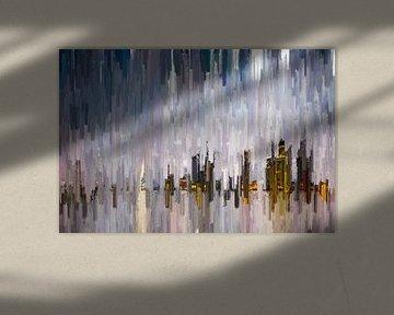 Skyline abstraite sur Arjen Roos