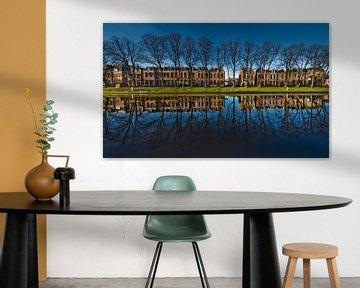 Reflectie in blauw sur Harrie Muis