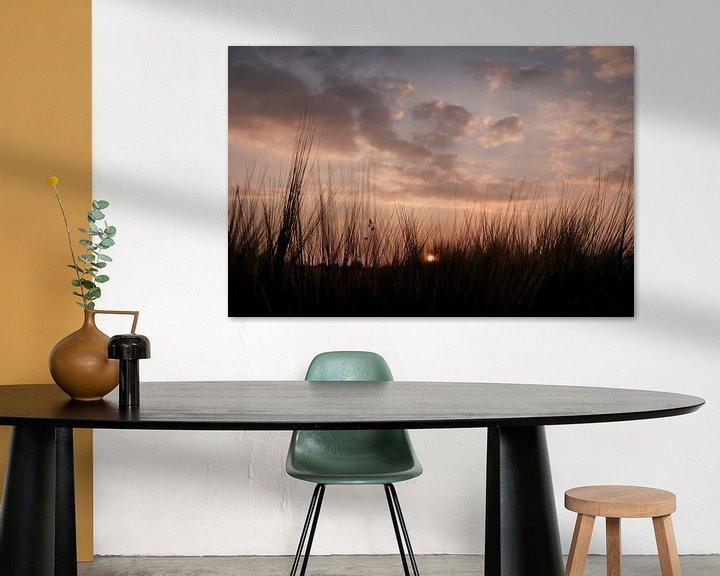 Impression: zonsondergang boven westerbork sur jan van de ven