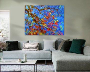 Urban Painting 122 - Blauw van MoArt (Maurice Heuts)