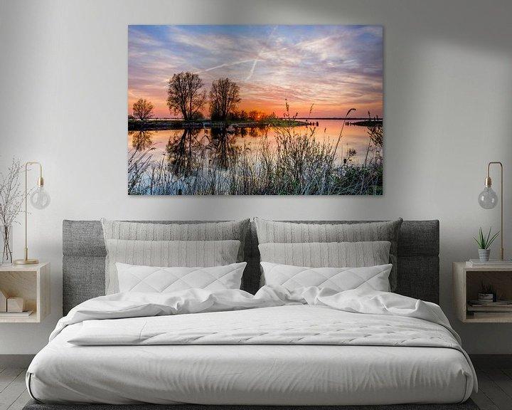 Sfeerimpressie: Zonsondergang Beulakkerwijde van Ronnie Assink