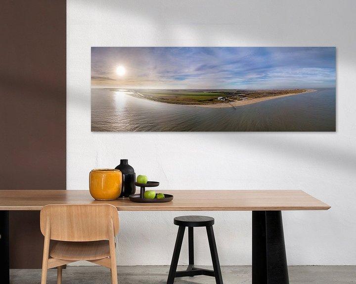 Sfeerimpressie: Steiger van Sil en vuurtoren Texel Zonsondergang van Texel360Fotografie Richard Heerschap