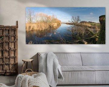 Panorama van de Oude Biezenkreek, Aardenburg