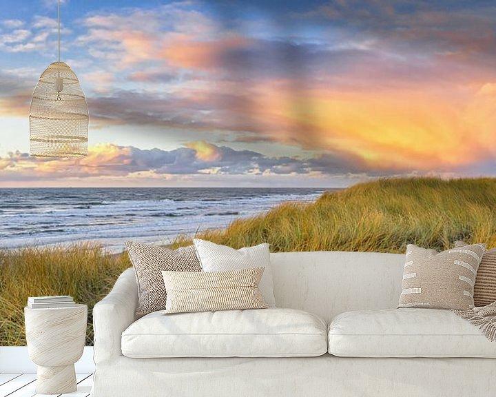 Sfeerimpressie behang: Zonsondergang op Texel / Texel Sunset van Justin Sinner Pictures ( Fotograaf op Texel)