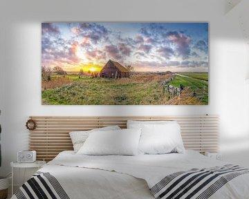 Un beau coucher de soleil sur Texel