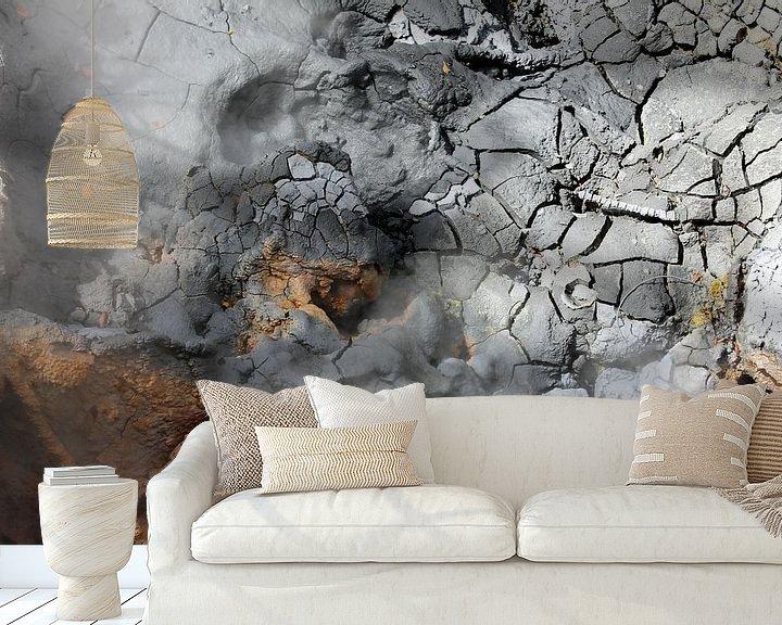 Sfeerimpressie behang: Krater in Rincón de la Vieja van Berg Photostore