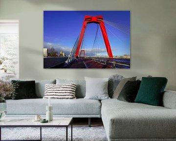 Willemsbrug in Rotterdam von Alice Berkien-van Mil