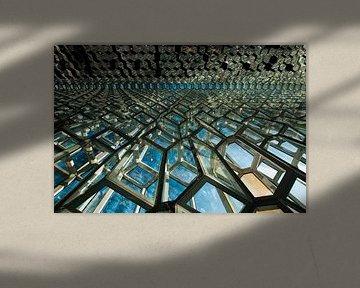 Teil der Fassade von Harpa von Gerry van Roosmalen