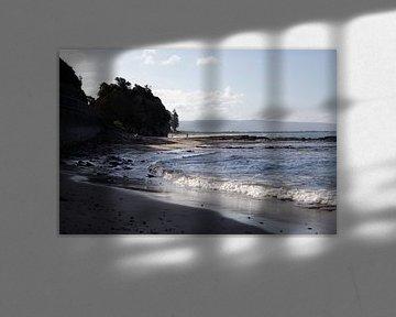 Strand in Australië. van Kees van Dun