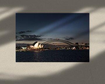 Sydney by night van Julia Wendelaar