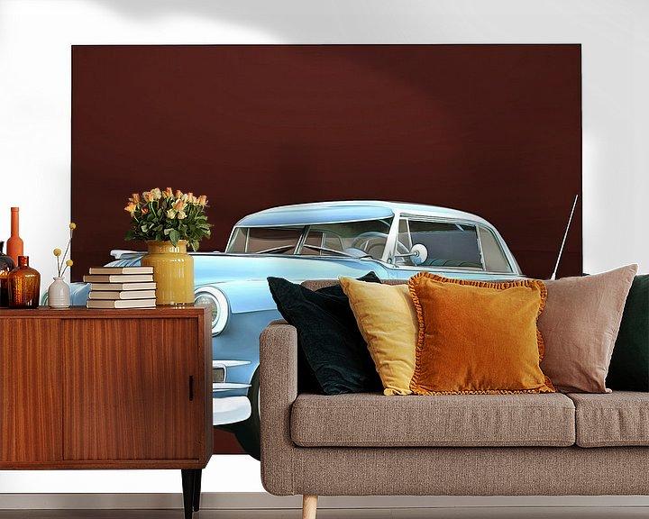 Sfeerimpressie behang: Klassieke auto – Oldtimer Pontiac Chieftain Hard Top Casket van Jan Keteleer