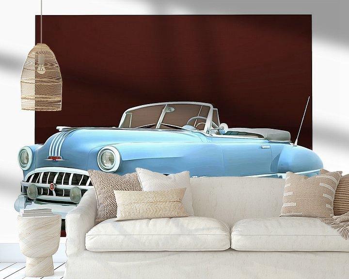 Sfeerimpressie behang: Klassieke auto – Oldtimer Pontiac Chieftain Convertible van Jan Keteleer