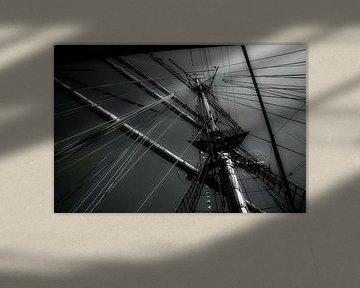 Lijnenspel in zwart - wit van Evert Jan Looise