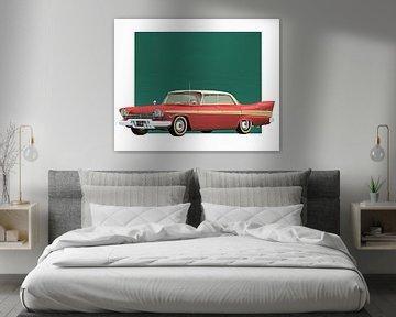 Voiture classique –  Oldtimer Plymouth Belvedre Sport Sedan 1957 sur Jan Keteleer