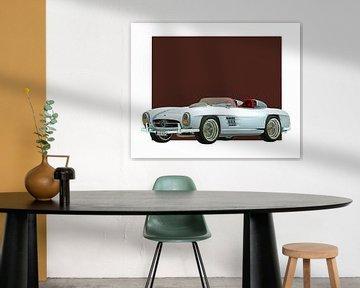 Klassieke auto – Oldtimer  Mercedes 300SL Daytona concept roadster
