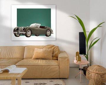 Klassieke auto – Oldtimer Jaguar XK120 1951