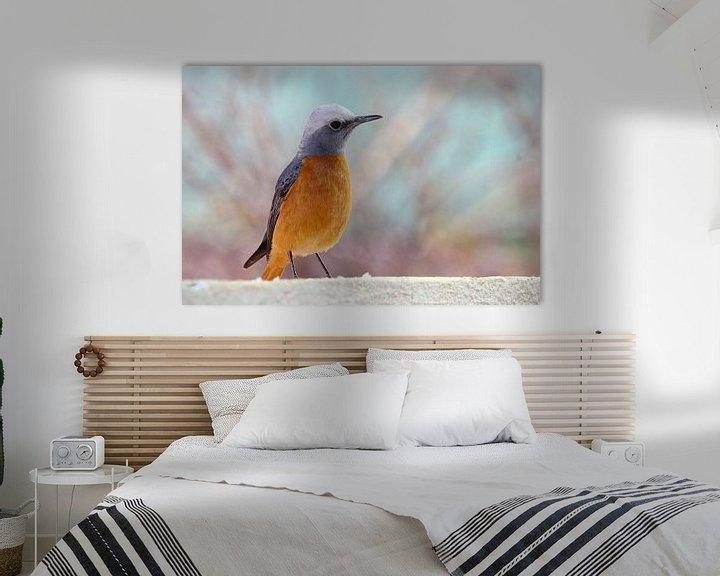 Impression: Oiseau chanteur couleur pastel sur Inge Hogenbijl