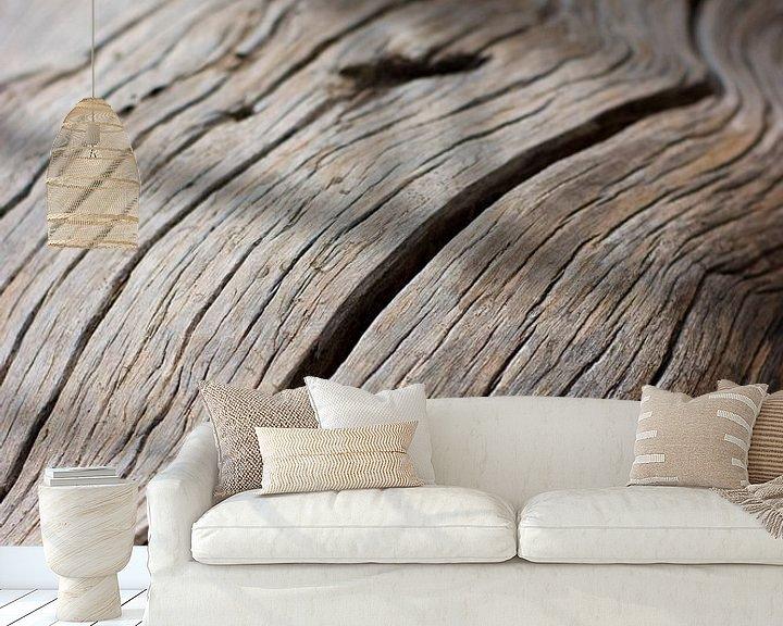 Sfeerimpressie behang: Versteend hout van Wouter Sikkema