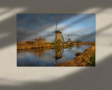 Die Windmühlen von Kinderdijk von Gert Hilbink