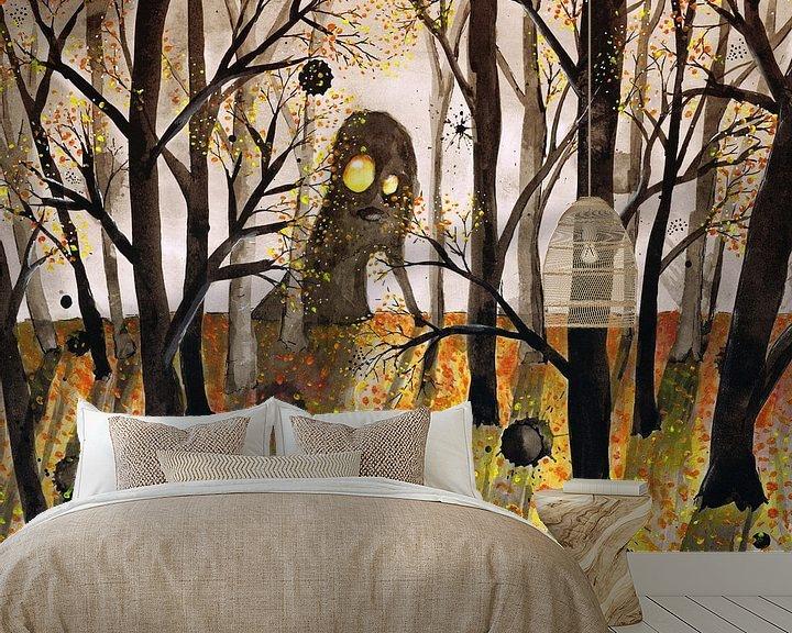 Sfeerimpressie behang: Monster in het woud van Bianca Wisseloo
