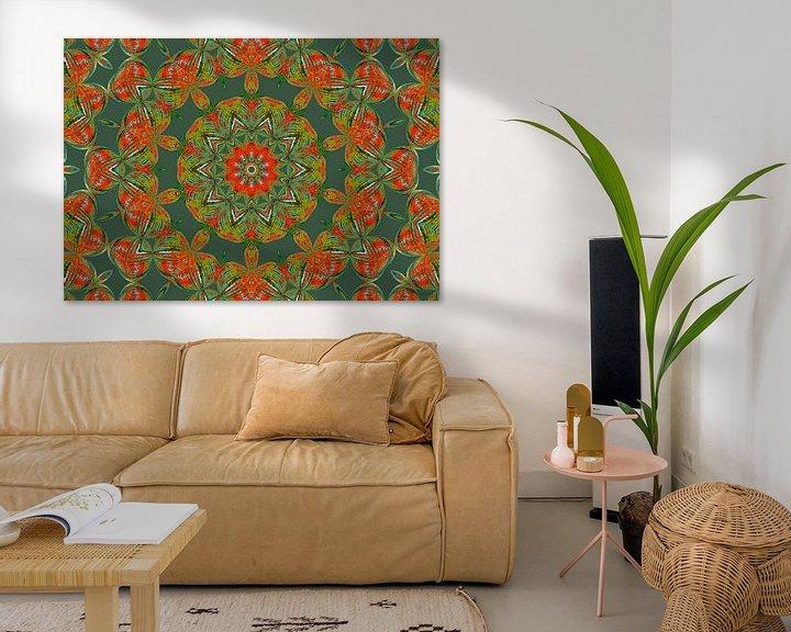 Beispiel: Rosetta in Grün (Mandala in Grün) von Caroline Lichthart