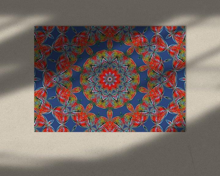 Beispiel: Rosette in Blau (Mandala in Blau) von Caroline Lichthart