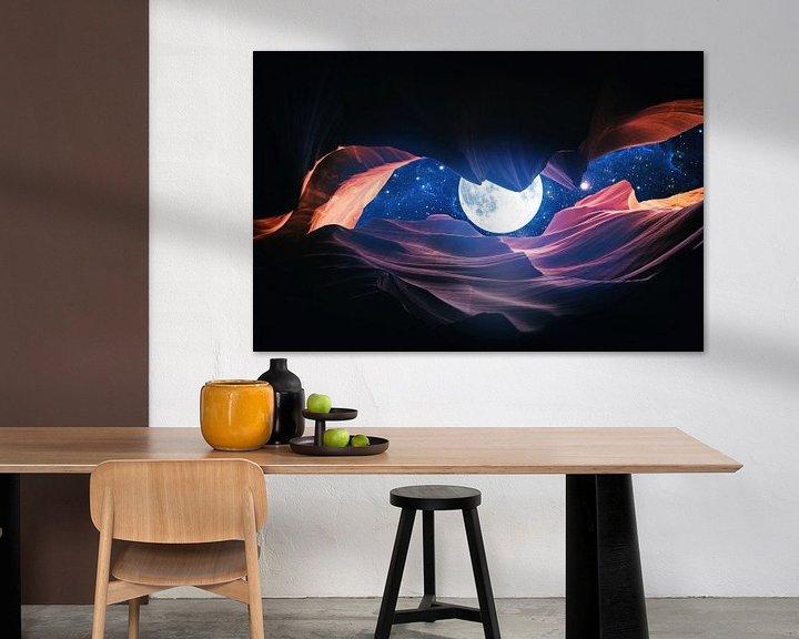 Sfeerimpressie: Grand Canyon met Space & Full Moon Collage I van Art Design Works