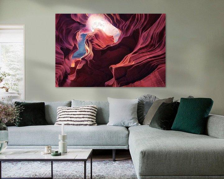 Sfeerimpressie: Grand Canyon met Space & Full Moon Collage II van Art Design Works