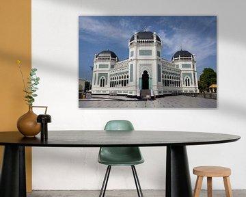 Moschee in Medan, Sumatra von Kees van Dun