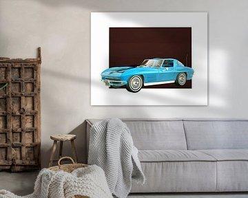 Klassieke auto – Oldtimer Chevrolet Corvette Stingray