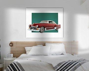 Klassieke auto – Oldtimer Cadillac Deville Convertible met dak uitgeklapt