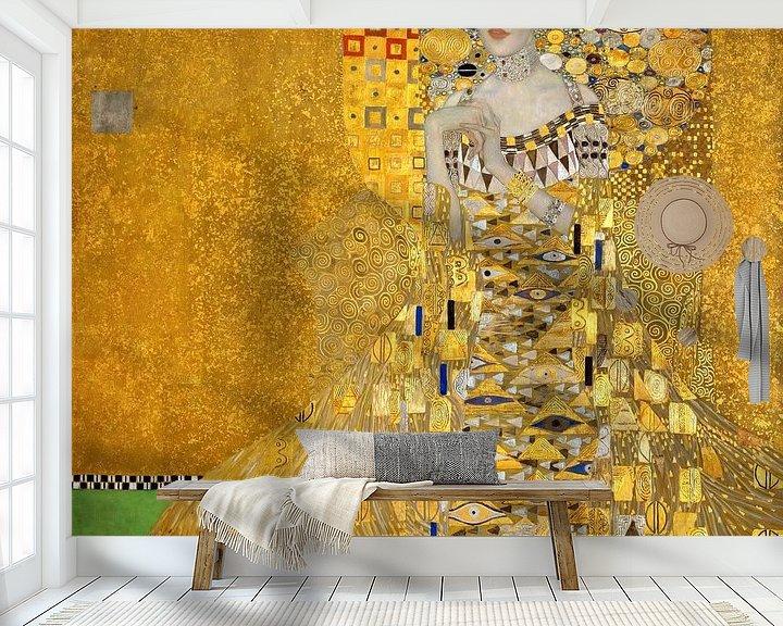 Sfeerimpressie behang: Adele Bloch-Bauer  - Gustav Klimt - 1907
