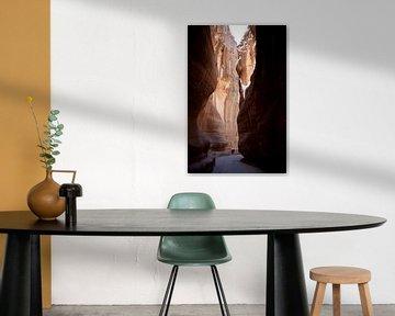 Licht en donker bij rotsen in Petra van Kees van Dun