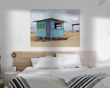 Strandhuisje Kaapverdië van Kees van Dun
