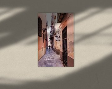 Straße in Malaga von Kees van Dun