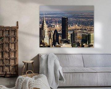 Chrysler Building, Queensboro Bridge, New York City van Rosan Verbraak
