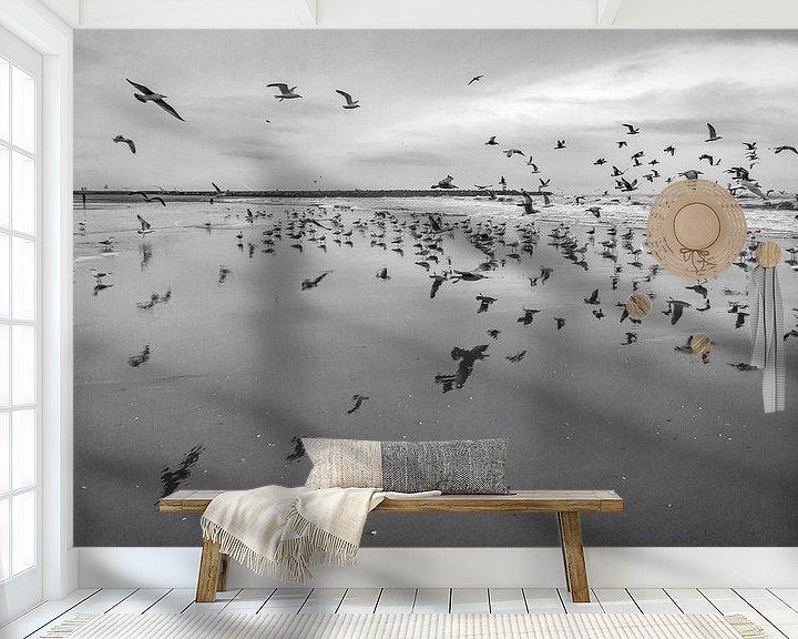 Beispiel fototapete: Möwen von Ralf Linckens