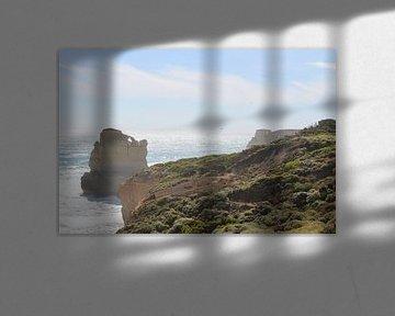 uitzicht vanaf de Great Ocean Road von Julia Wendelaar