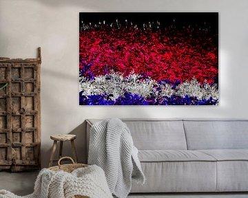 abstracte kunst bloemen die de nederlandse vlag vormen von Gerrit Neuteboom
