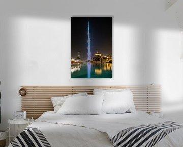 Burj Khalifa by Night van Luc Buthker