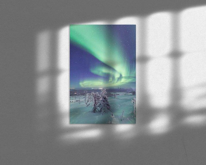 Beispiel: Aurora Borealis over Fins Lapland von Luc Buthker