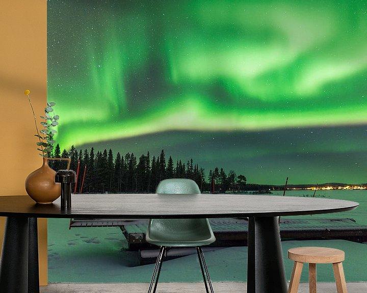 Beispiel fototapete: Aurora Borealis over Fins Lapland von Luc Buthker