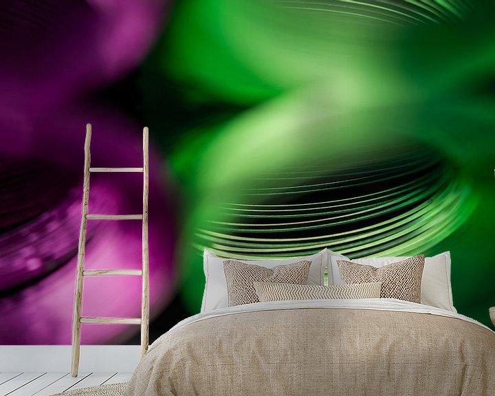 Beispiel fototapete: Paars Groen von CapturedByMark .