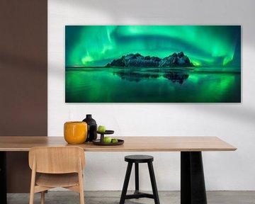 Aurora Reflexionen auf Stokknse von Wojciech Kruczynski