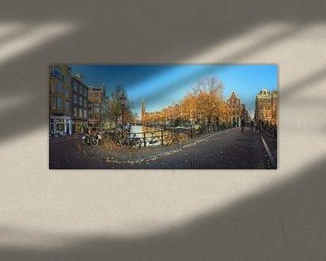 Prinsengracht Westerkerk Panorama von Dennis van de Water